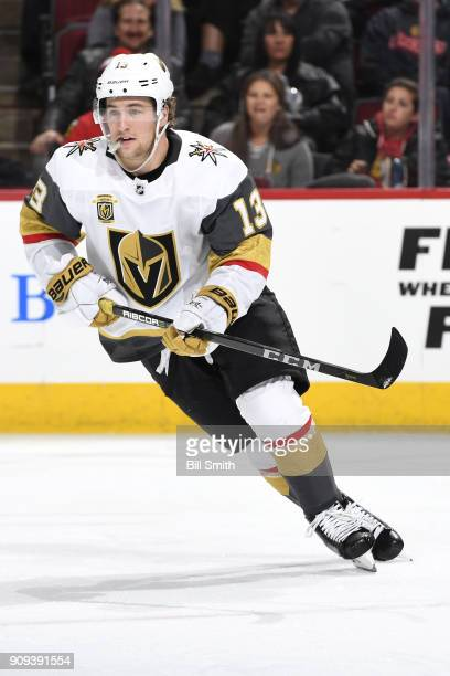 Brendan Leipsic of the Vegas Golden Knights skates in the third period against the Chicago Blackhawks at the United Center on January 5 2018 in...