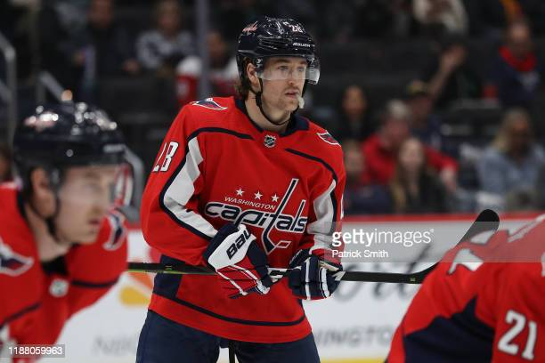 Brendan Leipsic of the Washington Capitals in action against the Montreal Canadiens at Capital One Arena on November 15 2019 in Washington DC