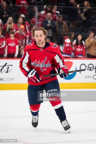 Brendan Leipsic of the Washington Capitals skates before the game against the Toronto Maple Leafs at Capital One Arena on October 16 2019 in...