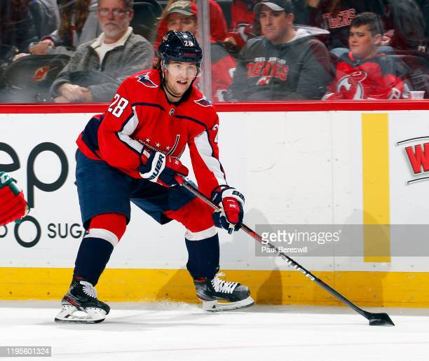 Brendan Leipsic of the Washington Capitals skates during an NHL hockey game against the New Jersey Devils on November 20 2019 at the Prudential...