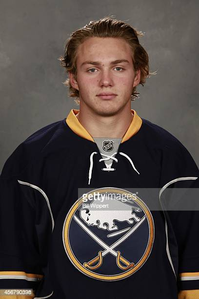 Brendan Lemieux of the Buffalo Sabres poses for his official headshot for the 20142015 season on September 18 2014 at the First Niagara Center in...