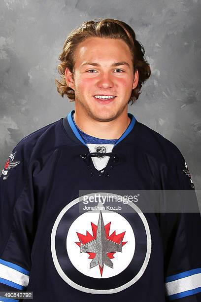 Brendan Lemieux of the Winnipeg Jets poses for his official headshot for the 20152016 season on September 17 2015 at the MTS Centre in Winnipeg...