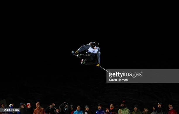 Brendan Mackay of Canada competes in the Final of the Men's Halfpipe on day eleven of FIS Freestyle Ski Snowboard World Championships 2017 on March...