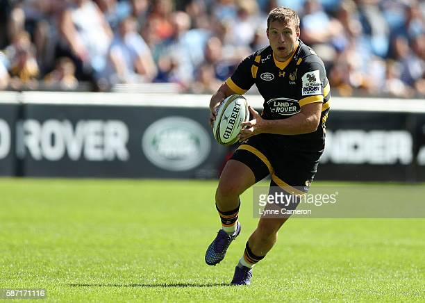 Brendan Macken of Wasps during the Quarter Finals match between Wasps and Harlequins in the Singha Premiership Rugby 7's Series Final at Ricoh Arena...