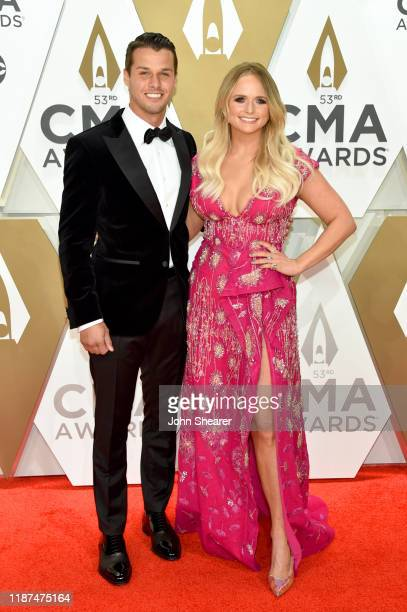 Brendan Mcloughlin and Miranda Lambert attend the 53rd annual CMA Awards at the Music City Center on November 13 2019 in Nashville Tennessee