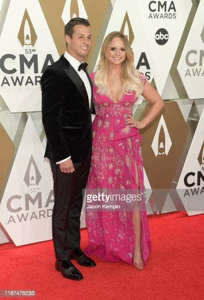 Brendan Mcloughlin and Miranda Lambert attend the 53rd annual CMA Awards at the Music City Center on November 13, 2019 in Nashville, Tennessee.