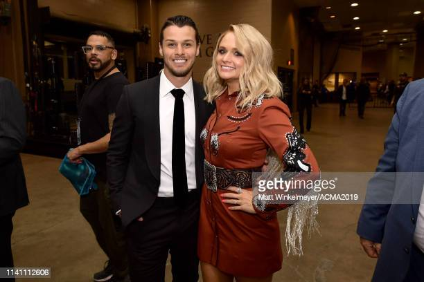 Brendan McLoughlin and Miranda Lambert attend the 54th Academy Of Country Music Awards at MGM Grand Garden Arena on April 07 2019 in Las Vegas Nevada