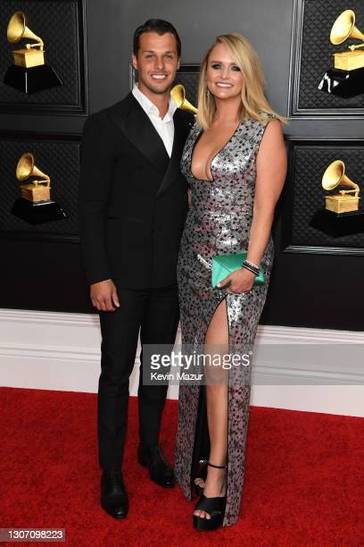 Brendan Mcloughlin and Miranda Lambert attend the 63rd Annual GRAMMY Awards at Los Angeles Convention Center on March 14, 2021 in Los Angeles,...