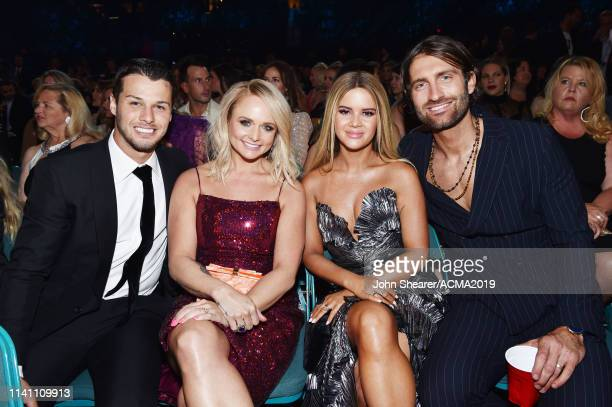 Brendan McLoughlin Miranda Lambert Maren Morris and Ryan Hurd attend the 54th Academy Of Country Music Awards at MGM Grand Garden Arena on April 07...