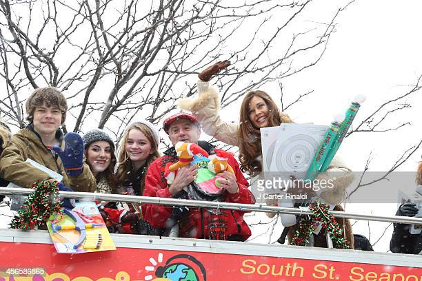 Brendan Meyer Juliette Goglia Kerris Dorsey Anthony Laciura and Carol Alt attend City Sightseeing New York 2013 holiday toy drive at PAL's Harlem...