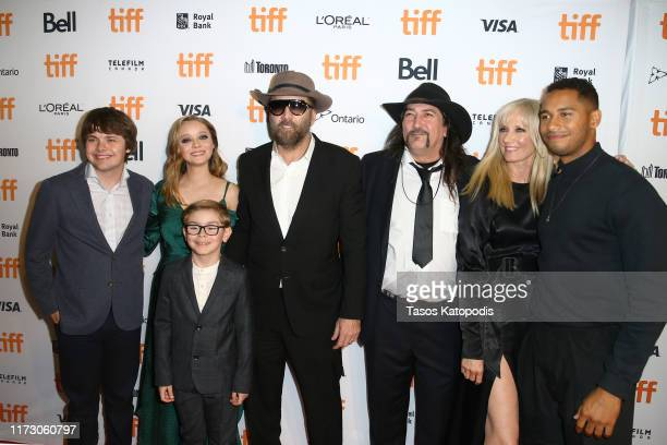 Brendan Meyer Madeleine Arthur Julian Hilliard Nicolas Cage Richard Stanley Joely Richardson and Elliot Knight attend the Color Out Of Space premiere...