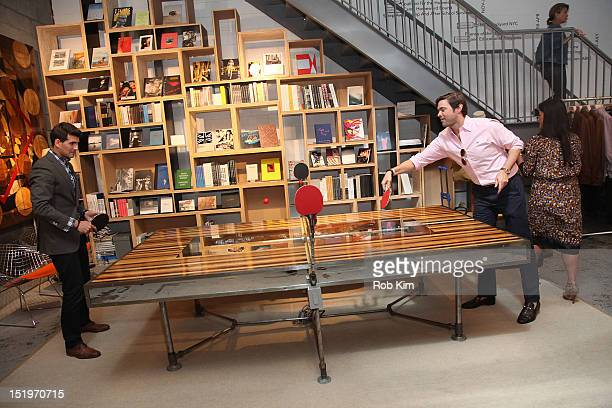 4abc8f7761 Brendan Monaghan of GQ plays ping pong at the GQ Nordstrom Men s Popup  Store at Nordstrom s