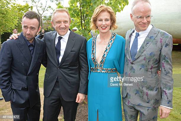 Brendan Mullane FrancoisHenri Pinault Julia Peyton Jones and HansUlrich Obrist attend The Serpentine Gallery Summer Party cohosted by Brioni at The...