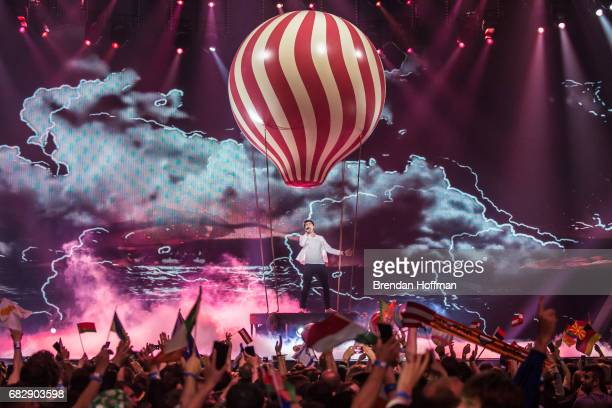 Brendan Murray the contestant from Ireland performs during the second Eurovision semifinal on May 11 2017 in Kiev Ukraine Ukraine is the 62nd host of...