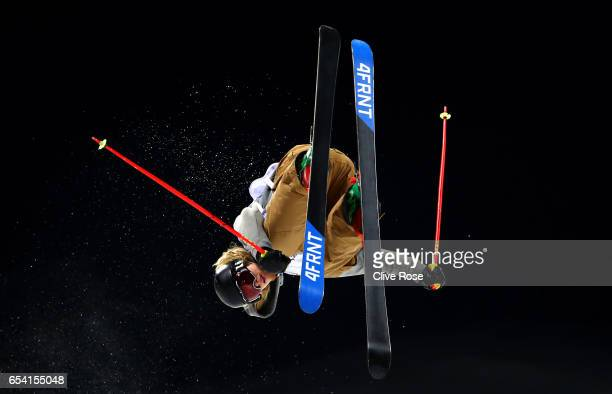 Brendan Newby of Ireland competes in the Men's halfpipe qualification round on day 9 of the FIS Freestyle Ski Snowboard World Championships 2017 on...