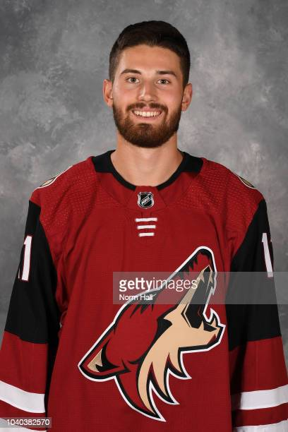 Brendan Perlini of the Arizona Coyotes poses for his official headshot for the 20182019 season at Gila River Arena on September 13 2018 in Glendale...