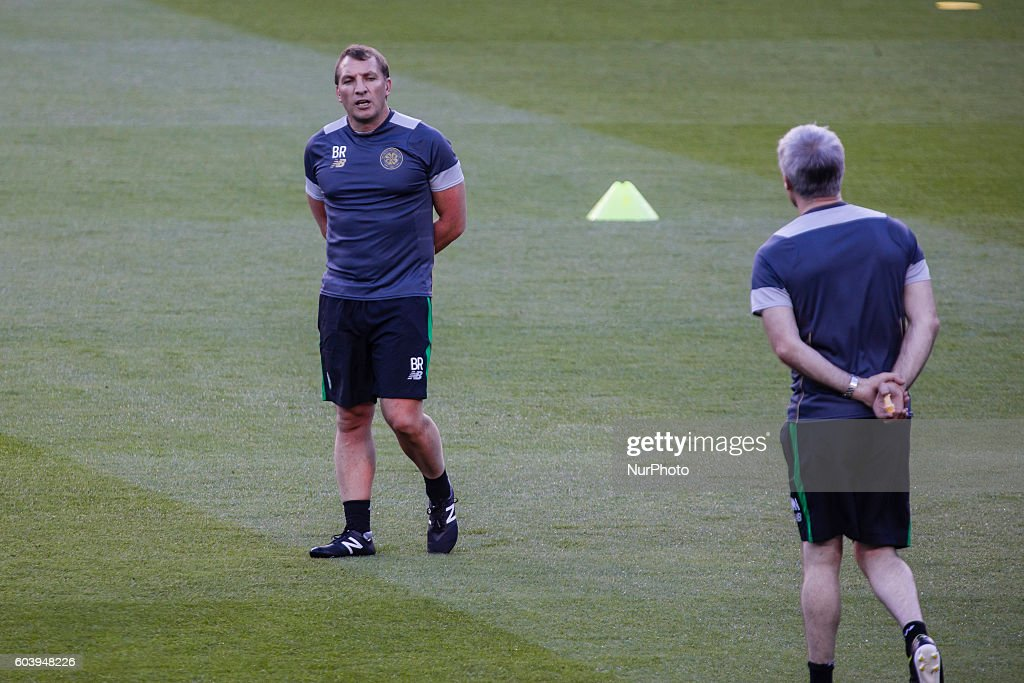 Celtic FC Training Session and Press Conference : News Photo
