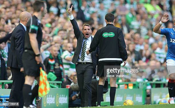 Brendan Rodgers manager of Celtic during the Ladbrokes Scottish Premiership match between Celtic and Rangers on September 10 2016 in Glasgow