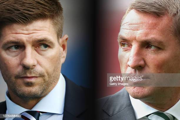 COMPOSITE OF IMAGES Image numbers 997192604617346568 GRADIENT ADDED In this composite image a comparison has been made between Steven Gerrard manager...