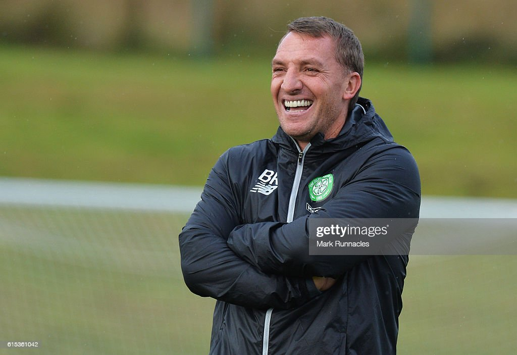 Celtic Training and Press Conference : News Photo