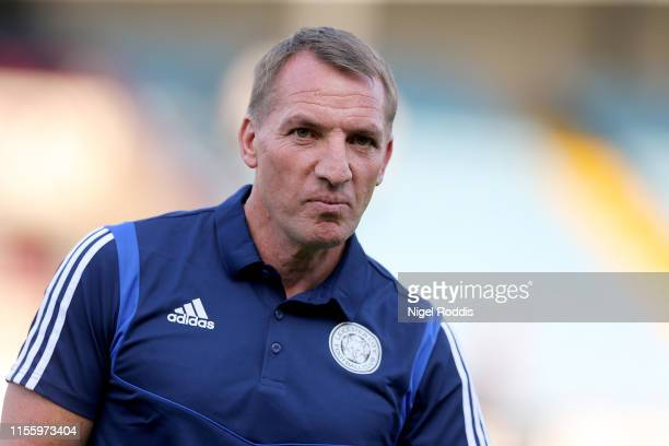 Brendan Rodgers manager of Leicester City ahead of the PreSeason Friendly match between Scunthorpe United and Leicester City at Glanford Park on July...