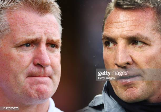 COMPOSITE OF IMAGES Image numbers 11639935141196044186 GRADIENT ADDED In this composite image a comparison has been made between Dean Smith manager...
