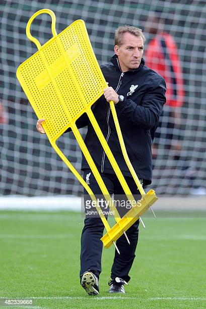 Brendan Rodgers Manager of Liverpool during a Liverpool FC training session at Melwood Training Ground on July 30 2015 in Liverpool England