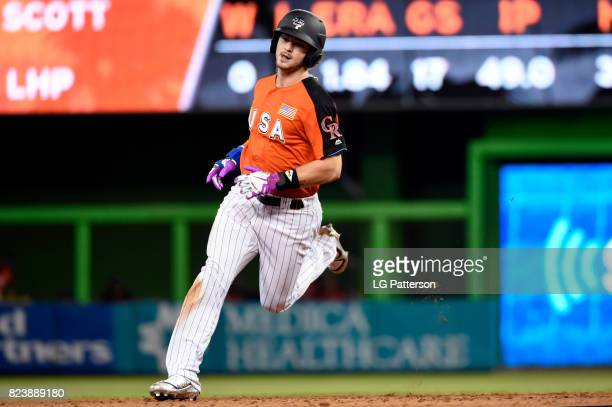 Brendan Rodgers of Team USA runs the bases during the SirusXM AllStar Futures Game at Marlins Park on Sunday July 9 2017 in Miami Florida