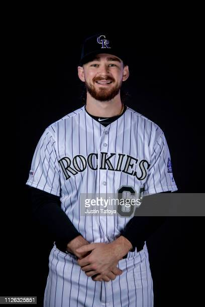Brendan Rodgers of the Colorado Rockies poses during MLB Photo Day on February 20, 2019 at Salt River Fields at Talking Stick in Scottsdale, Arizona.
