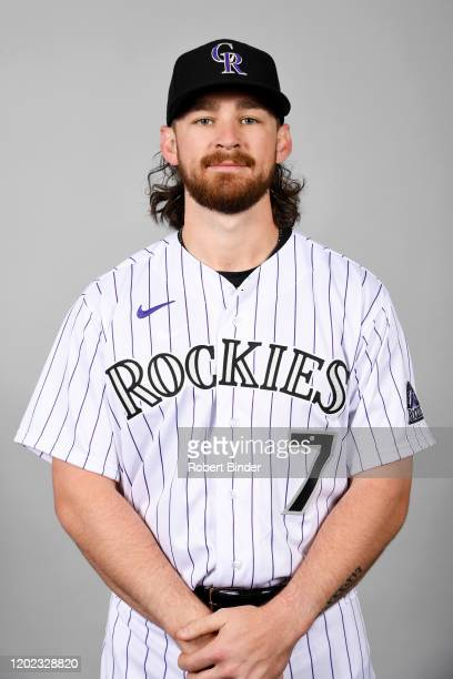 Brendan Rodgers of the Colorado Rockies poses during Photo Day on Wednesday, February 19, 2020 at Salt River Fields at Talking Stick in Scottsdale,...