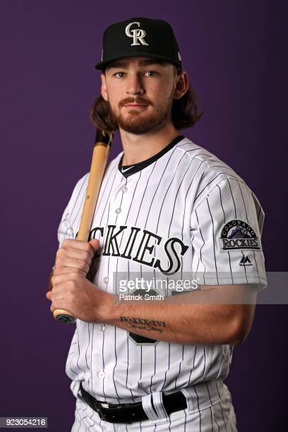 Brendan Rodgers of the Colorado Rockies poses on photo day during MLB Spring Training at Salt River Fields at Talking Stick on February 22, 2018 in...