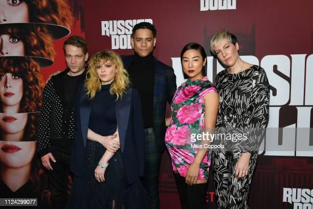 "Brendan Sexton III, Actors Natasha Lyonne, Charlie Barnett, Greta Lee, and Rebecca Henderson attend Netflix's ""Russian Doll"" Season 1 Premiere at..."