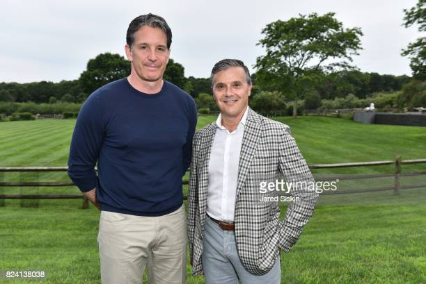 Brendan Shanahan and David Bowen attend the Alzheimer's Association Hosts Rita Hayworth Gala Hamptons Kickoff Event at a Private Residence on July 28...