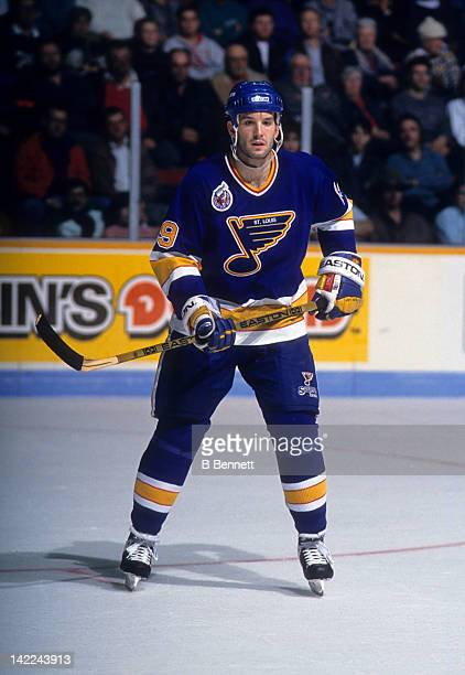 Brendan Shanahan of the St Louis Blues skates on the ice during an NHL game against the Montreal Canadiens on October 19 1992 at the Montreal Forum...