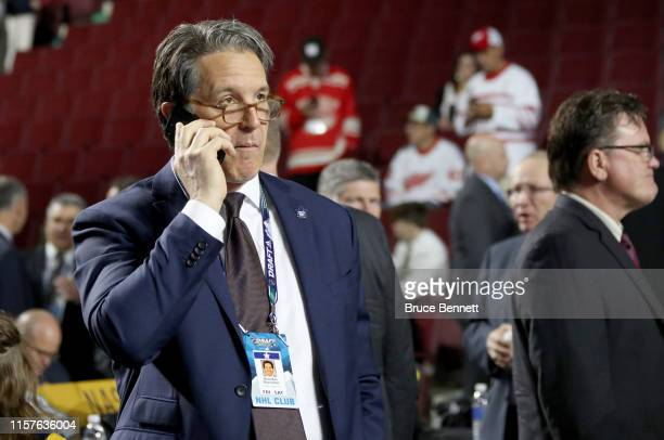 Brendan Shanahan of the Toronto Maple Leafs attend the 2019 NHL Draft at Rogers Arena on June 22 2019 in Vancouver Canada