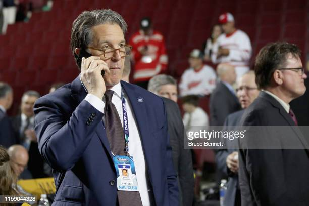 Brendan Shanahan of the Toronto Maple Leafs attends the 2019 NHL Draft at the Rogers Arena on June 22 2019 in Vancouver Canada