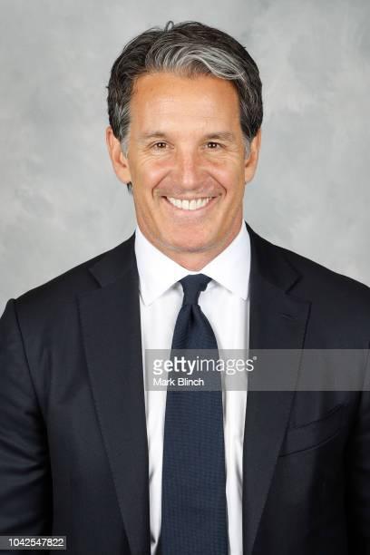 Brendan Shanahan President Alternate Governor of the Toronto Maple Leafs poses for his official headshot for the 20182019 season on September 13 2018...