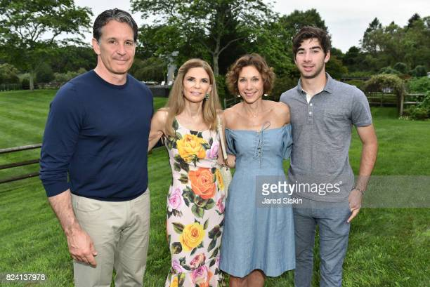 Brendan Shanahan Robin Meltzer Daryl Simon and Garrett Simon attend the Alzheimer's Association Hosts Rita Hayworth Gala Hamptons Kickoff Event at a...