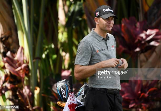 Brendan Steele of the United States looks on from the ninth tee during the second round of the Sony Open in Hawaii at the Waialae Country Club on...