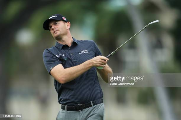 Brendan Steele of the United States plays a shot on the 13th hole during the third round of the Sony Open in Hawaii at the Waialae Country Club on...