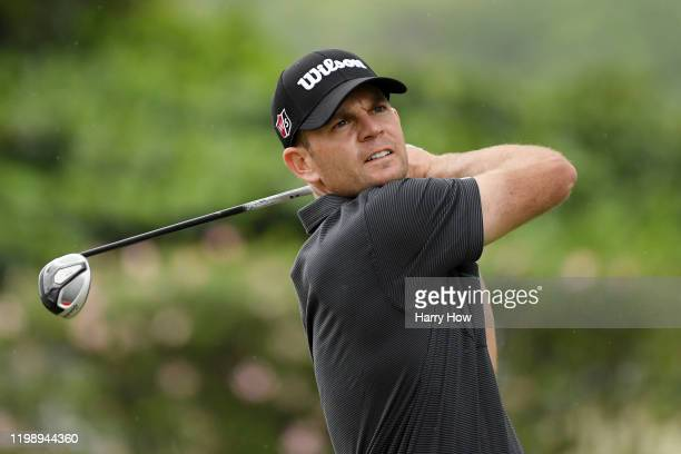 Brendan Steele of the United States plays his shot from the eighth tee during the third round of the Sony Open in Hawaii at the Waialae Country Club...