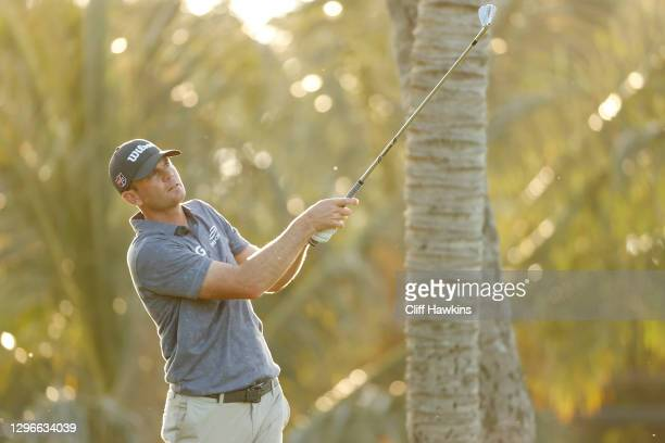 Brendan Steele of the United States plays his shot from the seventh tee during the second round of the Sony Open in Hawaii at the Waialae Country...