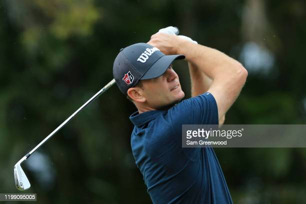 Brendan Steele of the United States plays his shot from the third tee during the final round of the Sony Open in Hawaii at the Waialae Country Club...