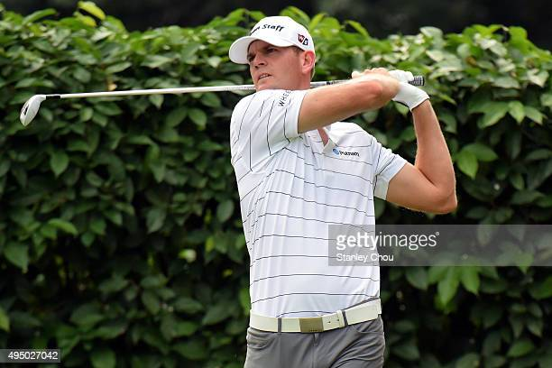 Brendan Steele of the United States tees off on the 2nd hole during round three of the CIMB Classic at Kuala Lumpur Golf Country Club on October 31...
