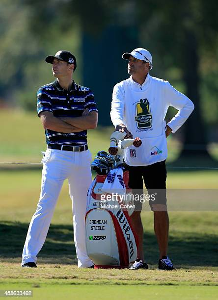 Brendan Steele of the United States waits to take his shot on the 11th hole during Round Three of the Sanderson Farms Championship at The Country...