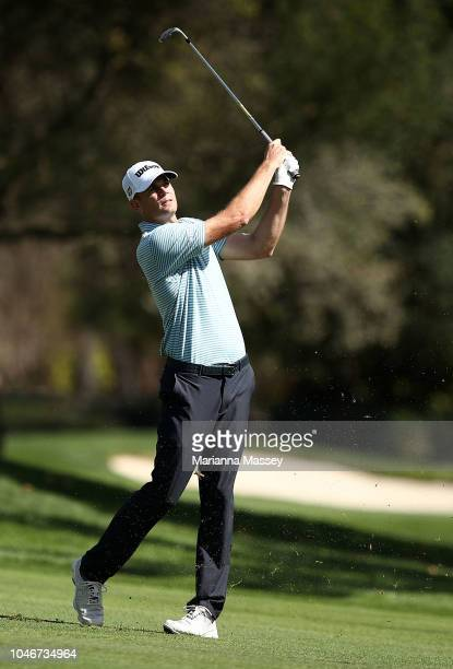 Brendan Steele plays his shot on the sixth hole during the third round of the Safeway Open at the North Course of the Silverado Resort and Spaon...