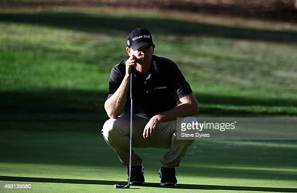 Brendan Steele putts on the 16th green during the third round of the Fryscom Open on October 17 2015 at the North Course of the Silverado Resort and...