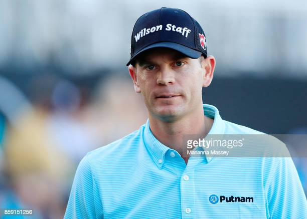 Brendan Steele reacts to his putt on the 18th hole during the final round of the Safeway Open at the North Course of the Silverado Resort and Spa on...
