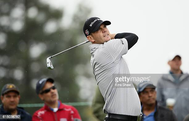 Brendan Steele tees off on the second hole during the final round of the Safeway Open at the North Course of the Silverado Resort and Spa on October...
