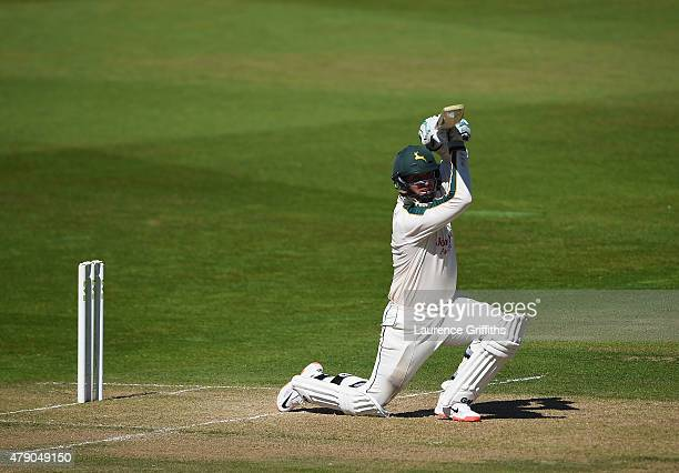Brendan Taylor of Nottinghamshire in action during day two of the LV County Championship match between Nottinghamshire and Worcestershire at Trent...